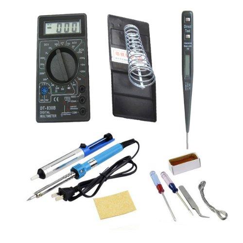 Soldering Tool Pack Dt832B Multimeter + Soldering Irons + Rosin + Tin