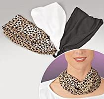 """MAGNETIC """"NEC-CESSORY"""" COWLS - SET OF 3 (BLACK, WHITE AND LEOPARD PRINT)"""