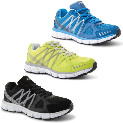 New Mens Casual Lace Up Exercise Running Gym Absorbing Shock Boys Walking Air Sports Trainers Sneakers Sizes 7-11