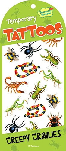 Peaceable Kingdom Creepy Crawlies Temporary Tattoos