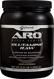 ARO-Vitacost Black Series Glutamine Raw Unflavored -- 5 grams - 2.2 lb (1000 g)