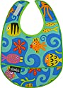 Mimi the Sardine Coated Organic Cotton Bib, Ocean
