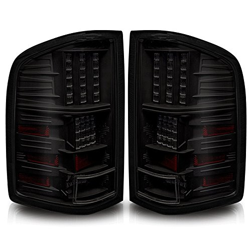 Premium 2Pc Tail Lights Fit 07-10 Chevy Silverado Led Tail Lights - Black Reflector / Smoke Lens - Light Bulb Type Led. (1 Pair Includes Both Driver & Passenger Sides.)