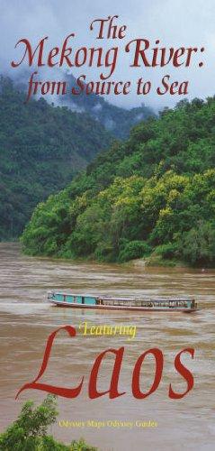 LAOS - The Mekong River Map