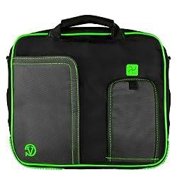 MyVanGody Green Pindar Messenger Bag for Dell Inspiron 15 & Dell Inspiron 17 Laptops