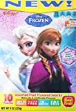 Kellogg's Disney Frozen Assorted Fruit Flavored Snacks 1 Box of 10 Pouches (Frozen & Assorted Princesses)