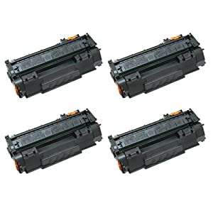 Amsahr TN315BK Brother TN315BK, HL-4150 Compatible Replacement Toner Cartridge with Four Black Cartridges