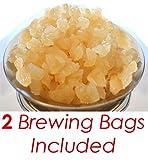 8 Tablespoons of Florida Sun Kefir 100% Organic Water Kefir Scoby Grains w/ 2 Brewing Bags