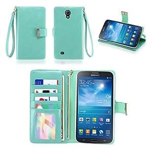 IZENGATE Executive Premium PU Leather Wallet Flip Case Cover Folio Stand for Samsung Galaxy Mega 6.3 (I9200) (Mint)