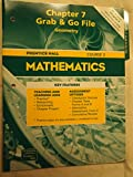 Prentice Hall Mathematics Chapter 7 Grab & Go File Geometry Course 2