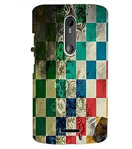PrintDhaba Pattern D-5526 Back Case Cover for MOTOROLA MOTO X3 (Multi-Coloured)