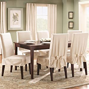 Amazon.com - Sure Fit Cotton Duck Shorty Dining Room Chair ...