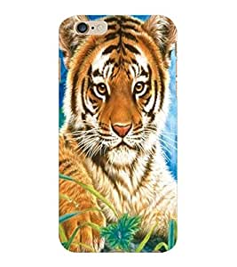 ColourCraft Cute Tiger Cub Design Back Case Cover for APPLE IPHONE 6S PLUS