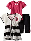 Little Lass Baby-Girls Infant 3 Piece Sweater Set with Stripe