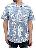 (マルカワジーンズパワージーンズバリュー) Marukawa JEANS POWER JEANS VALUE アロハシャツ 綿裏使い 20color L ブルー
