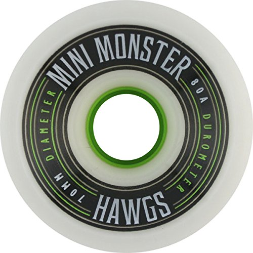 Hawgs Wheels Mini Monster White Skateboard Wheels - 70mm 80a (Set of 4) (Hawgs Mini Monster compare prices)