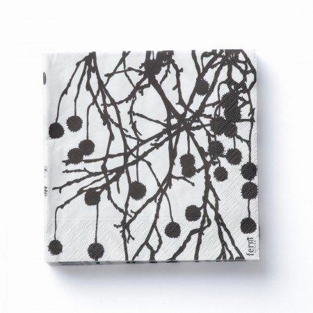 Tovaglioli di carta Tree Bomb Black di ferm living