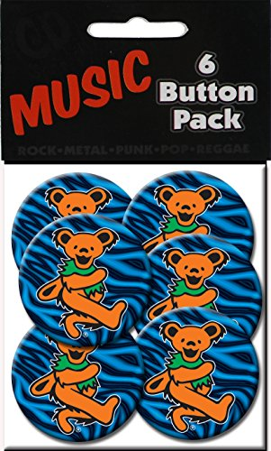 "C&D Visionary Grateful Dead Orange Bear 1.5"" Button (6-Piece) - 1"