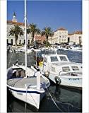 Photographic Print of Fishing boats on the waterfront, Split, Dalmatian Coast, Croatia, Europe