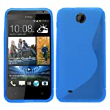 Samrick 'S' Wave Hydro Gel Protective Case for HTC Desire 300 - Blue