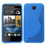 Samrick 'S' Wave Hydro Gel Protective Case for HTC Desire 300 - Blue