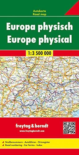 Freytag Berndt Autokarten, Europa physisch - Maßstab 1:3 500 000, Buch