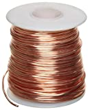 "Bare Copper Wire, Bright, 14 AWG, 0.064"" Diameter, 80 Length (Pack of 1)"