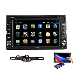 See Pupug Android 4.2 Double Din Car PC DVD Player 3D GPS navigation wifi 3G Capacitive screen Video Audio Stereo Bluetooth RDS Back Camera+Cable for Screen Mirroring Details