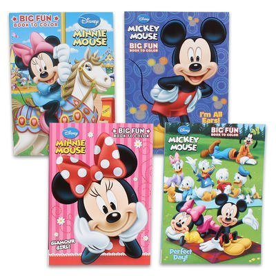 Disney's Mickey Mouse & Minnie Mouse Plus Friends Activity And Coloring Book (Set Of 4)