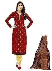 Aarvi Women's Cotton Unstiched Dress Material Multicolor -CV00149