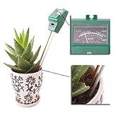 3-IN-1庭緑色のハンドルプローブガーデンライト照度計&PHメーター土壌用酸度計・水分計・照度計付