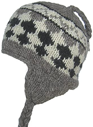Amazon.com: Wool Winter Chullo Beanie Fleece Lined Toque