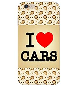 APPLE IPHONE 6 S PLUS I LOVE CARS Back Cover by PRINTSWAG