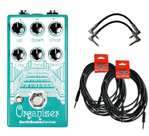 Напольная педаль мультиэффектов EarthQuaker Organizer Polyphonic Organ Emulator w/4 Free Cables
