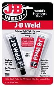 J-B Weld 8265S Original Steel Reinforced Epoxy Twin Pack - 2 oz