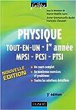 echange, troc Anne-Emmanuelle Badel, François Clausset - Physique tout-en-un MPSI-PCSI-PTSI 1e année : Cours et exercices corrigés