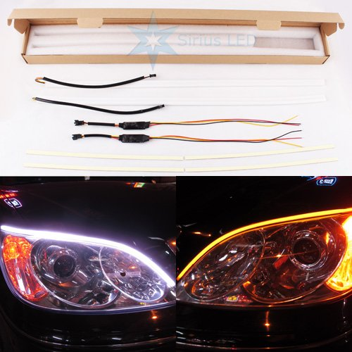 New Generation Drl Turn Signal Duo Color White Amber Add-On Led Light