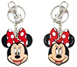 Minnie Mouse with Polka Dots Bow Head Expresions Disney Car Truck SUV Boat Home Office Colored Metal Pewter Double Sided Key Chain