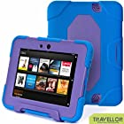 New Hot Item High Quality Kindle Fire Hd 7cover Case Slim Fit Silicone Plastic Dual Protective Back Cover Kid Proof Case Standing Case for Amazon Kindle Fire Hd 7 Inch(will Only Fit Kindle Fire Hd 7previous Generation)-multiple Color Options (Blue/purple)