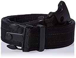 Uncle Mike\'s Law Enforcement Web Ultra Duty Belt with Hook and Loop Lining (Medium, Black)
