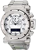 Invicta Men's 12487 Coalition Forces Analog-Digital Display Swiss Quartz Silver Watch