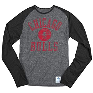 Chicago Bulls Grey adidas Springfield Originals Court Favorite Long Sleeve Tri-Blend... by adidas