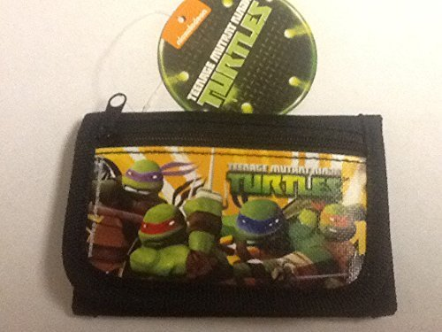 Brand New 2014 Teenage Mutant Ninja Turtles Tri Fold Wallet (Black) - 1