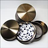 Large Sharpstone Herb Grinder 4 Piece Moss Green with a Cali Crusher® Pollen Press (G2L-GRN+CCP)