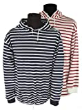 Hooded Shirt, Women 20 = Men L, white/red stripes