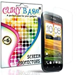 CurlyBase® 6 X HTC One S Clear LCD Screen Protector Guard / Film / Cover, Cleaning Cloth
