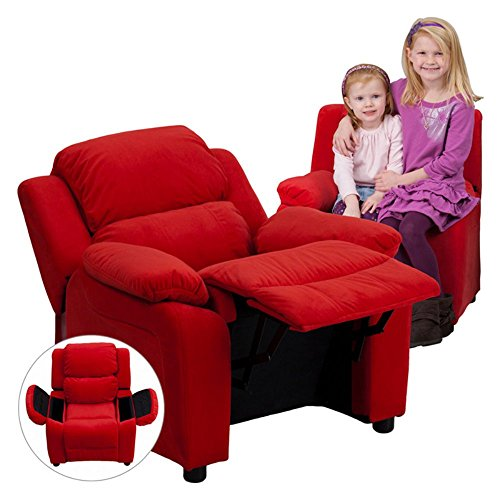 Flash-Furniture-Deluxe-Heavily-Padded-Contemporary-Avocado-Microfiber-Kids-Recliner-with-Storage-Arms