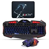 BAKTH Wired Adjustable Rainbow Backlit Gaming Keyboard And Automatic Changing Colorful Backlit Gaming Mouse +...