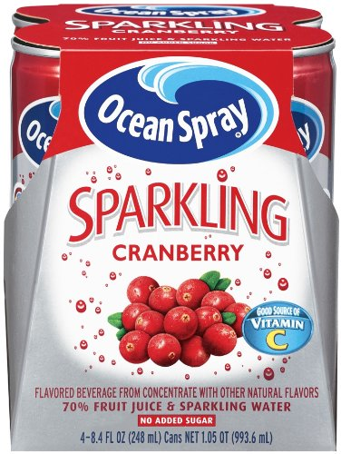 Ocean Spray Sparkling Cranberry, 4 - 8.4-Ounce per Pack,  (Pack of 6)