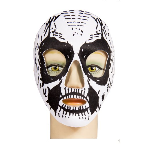 HMS Day Of The Dead Black Full Face Mask, White, One Size